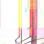Escaleira. Horacio González Diéguez. Imaxe obtida a partires dun escaner. Backlight en caixa de luz