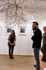 Ana Luísa Pinto, fotógrafa, Vítor Nieves, curador da exposición e Ángel Sotelo, galerista de Photo Art.