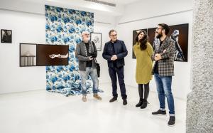 De esq. a der. Xosé Lois Vázquez, Roberto Verino, Tamara Wassaf e Vítor Nieves